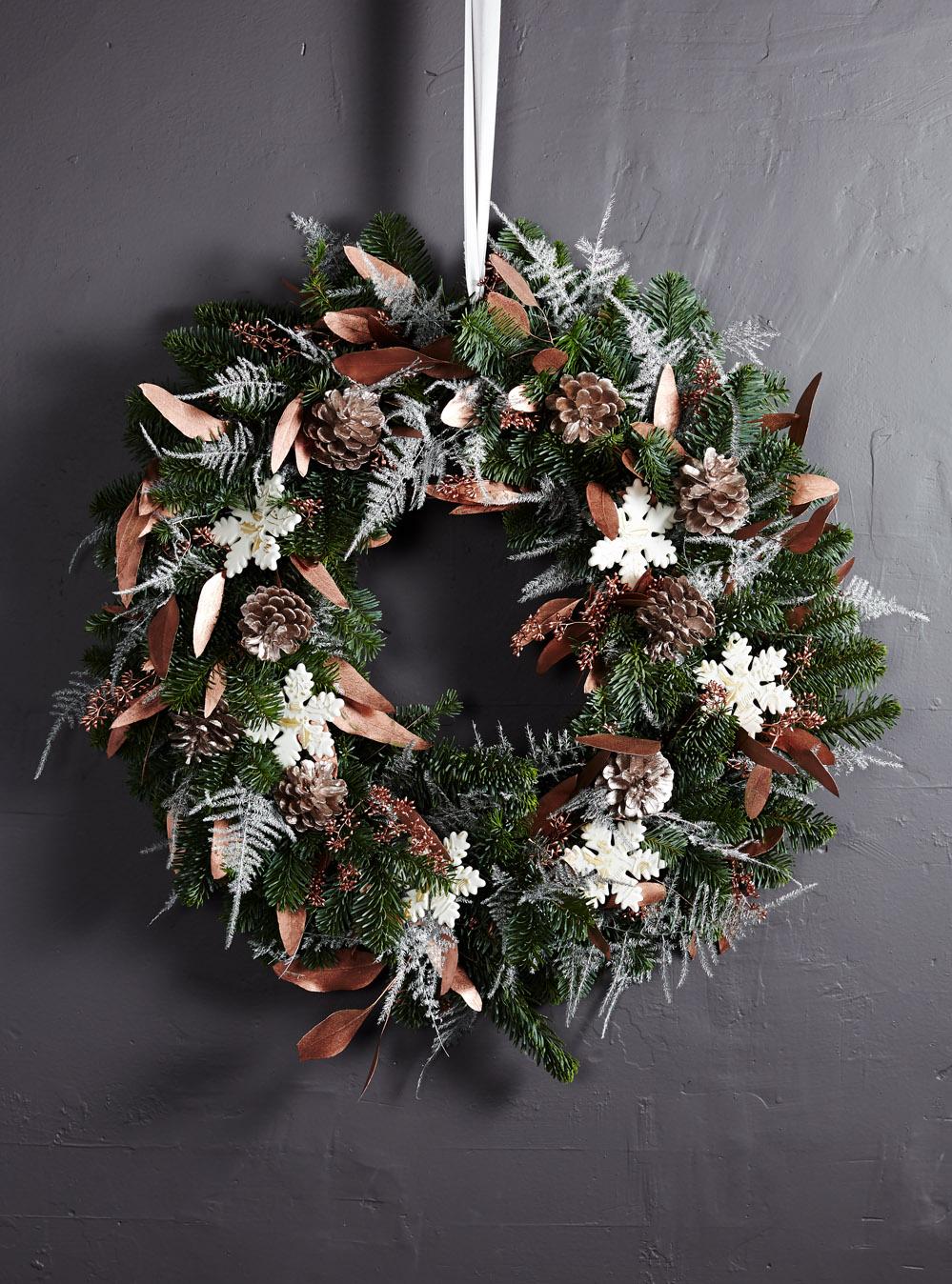 Bloom Flower Delivery | Metallic Serenity Outdoor Wreath