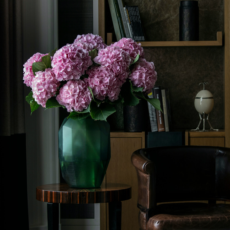 Bloom - Geometric Matte Green Glass Vase