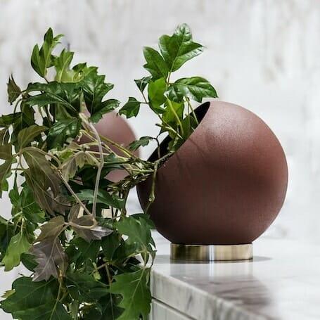 Bloom Flower Delivery | Gingerbread Orange Globe Plant Pot