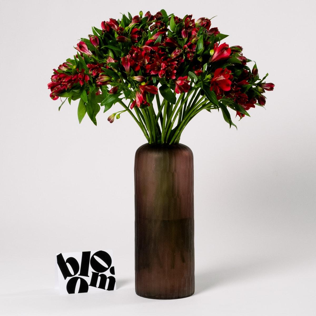 Bloom - Tall Matte Pink Glass Vase