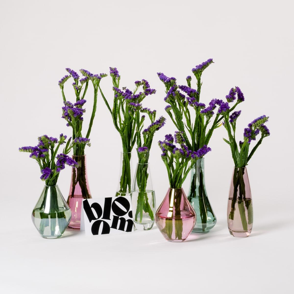 Bloom Flower Delivery | Pink Glass Bud Vase