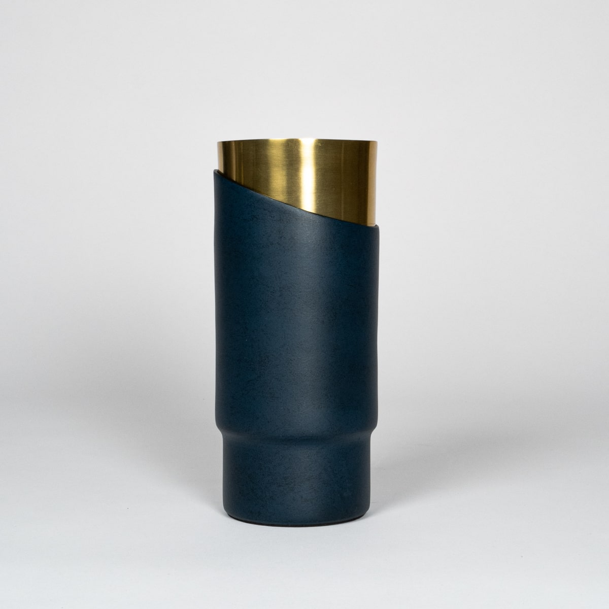 Bloom Flower Delivery | Deco Blue & Brass Vase