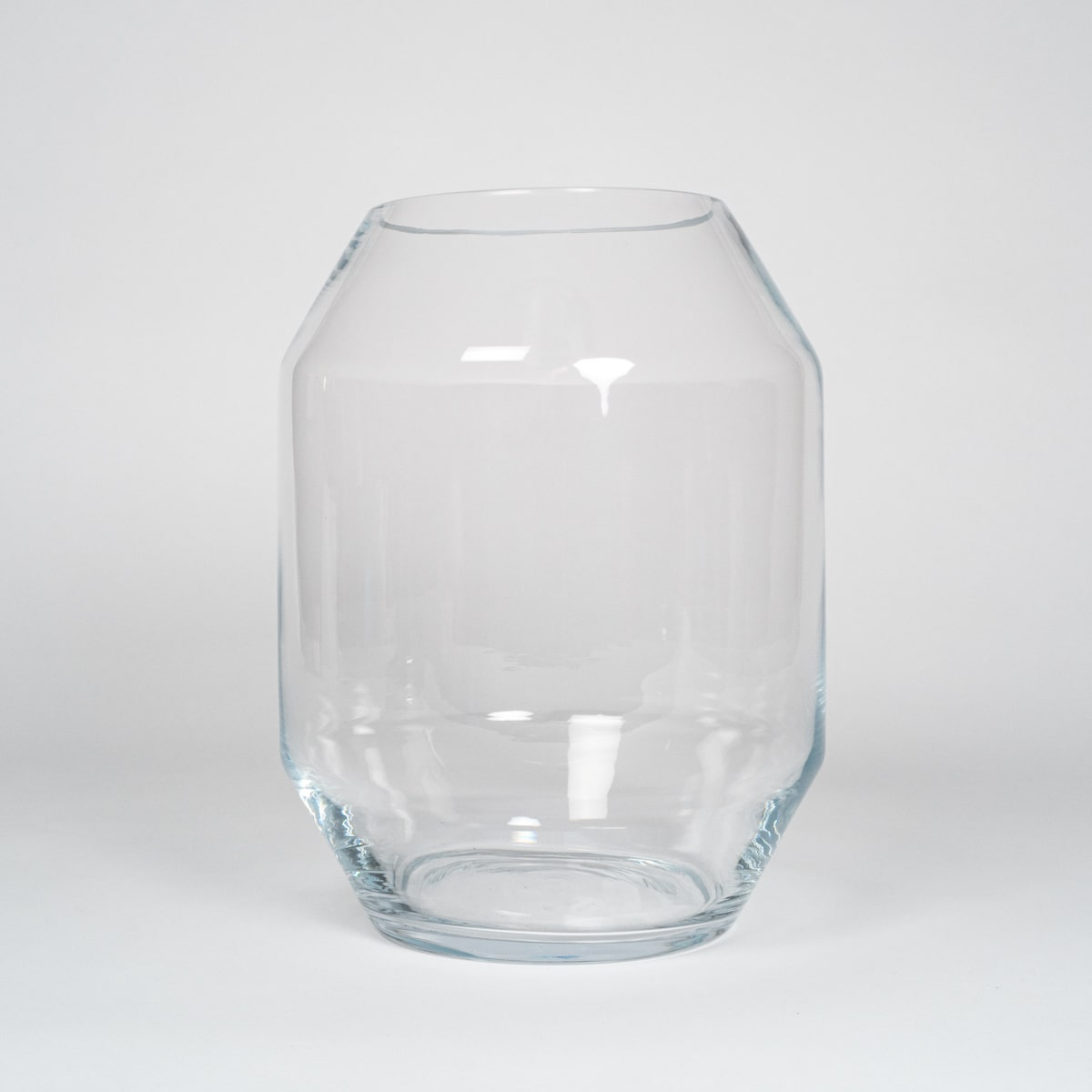Bloom Flower Delivery | Large Clear Glass Geometric Vase & Storm Lantern