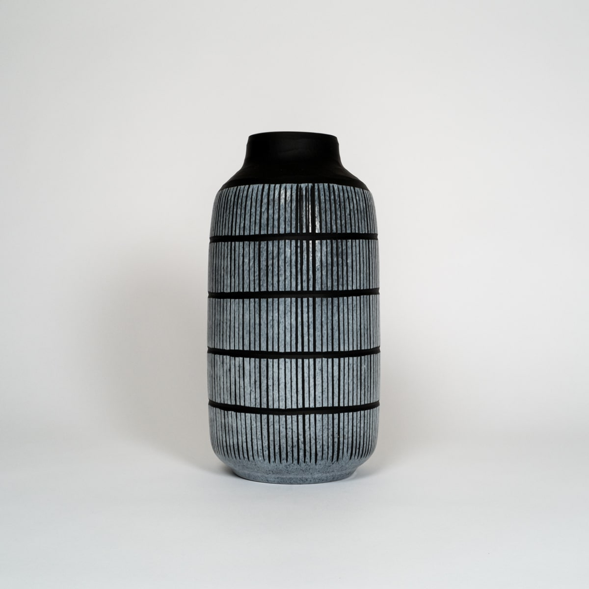 Bloom Flower Delivery | Large Black Glass Tribal Vase