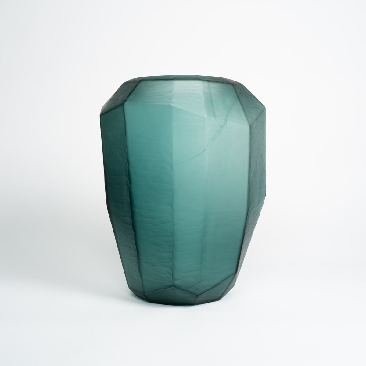 Bloom Flower Delivery | Geometric Matte Green Glass Vase