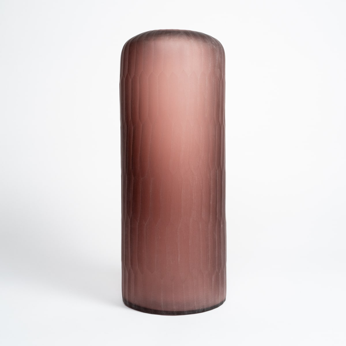 Bloom Flower Delivery | Tall Matte Pink Glass Vase