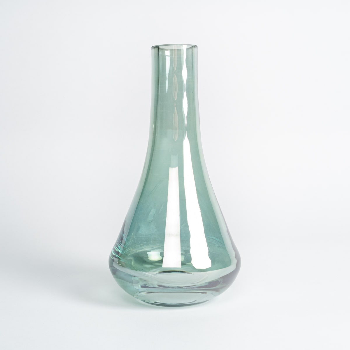 Bloom Flower Delivery | Green Glass Stem Vase