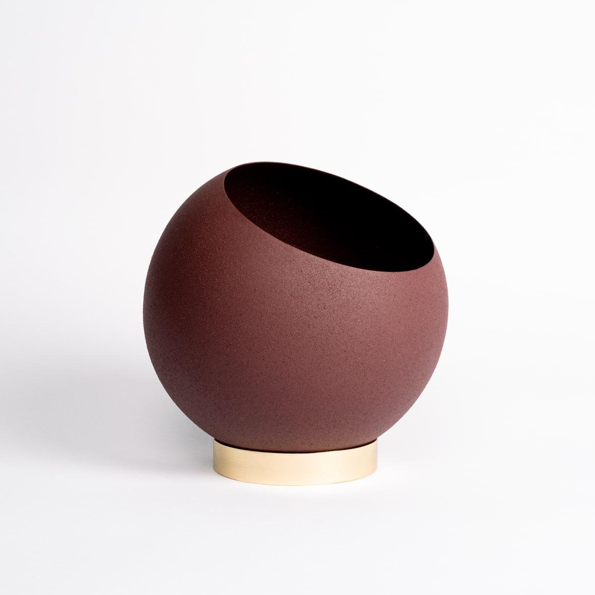 Bloom Flower Delivery | Bordeaux Red Globe Plant Pot