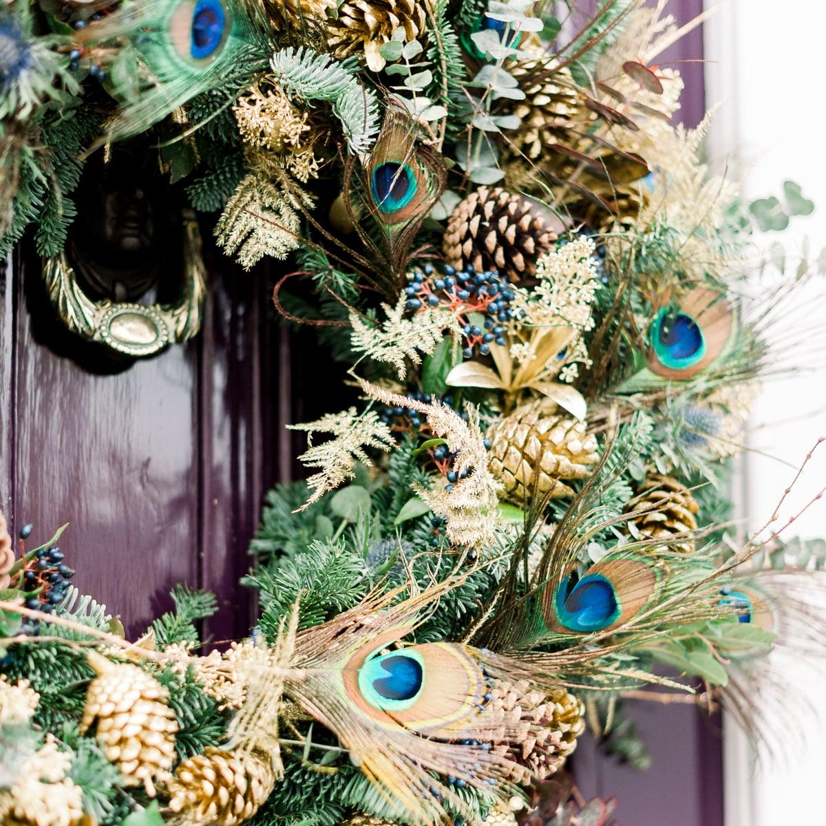 Bloom Flower Delivery | Winter's Sky Luxury Wreath