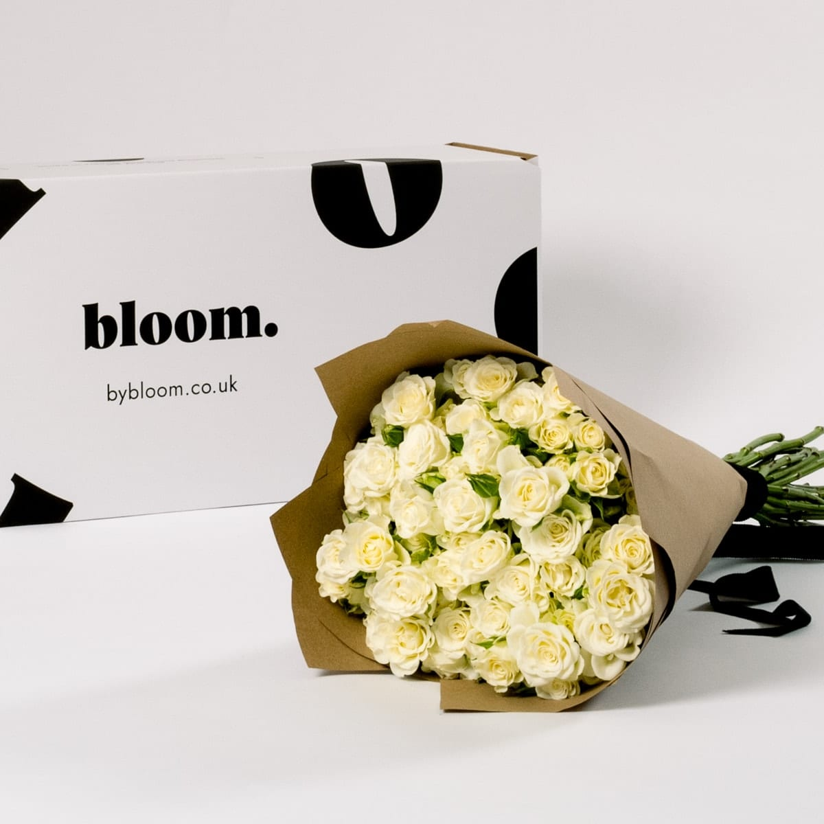 Bloom Flower Delivery | Snowflake White Spray Roses