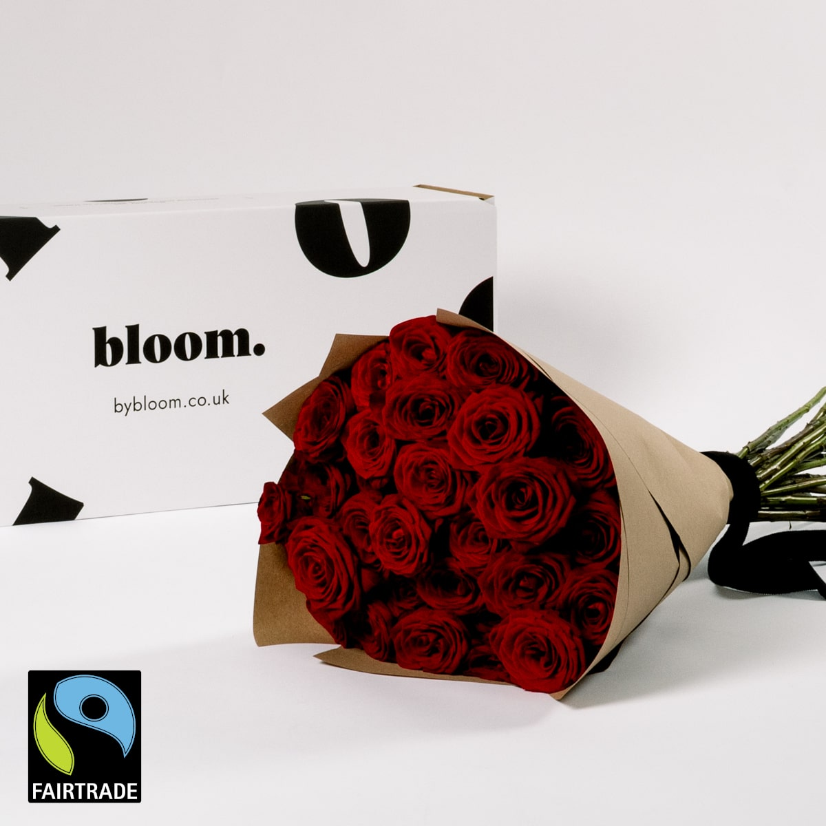 Bloom Flower Delivery | Fairtrade Red Naomi Roses