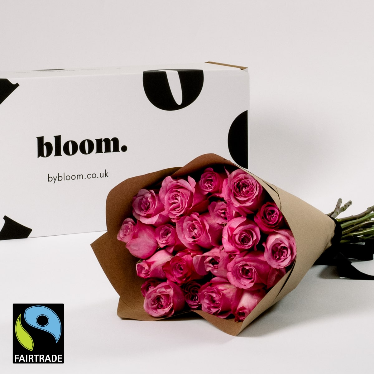 Bloom Flower Delivery | Fairtrade Cerise Pink Roses