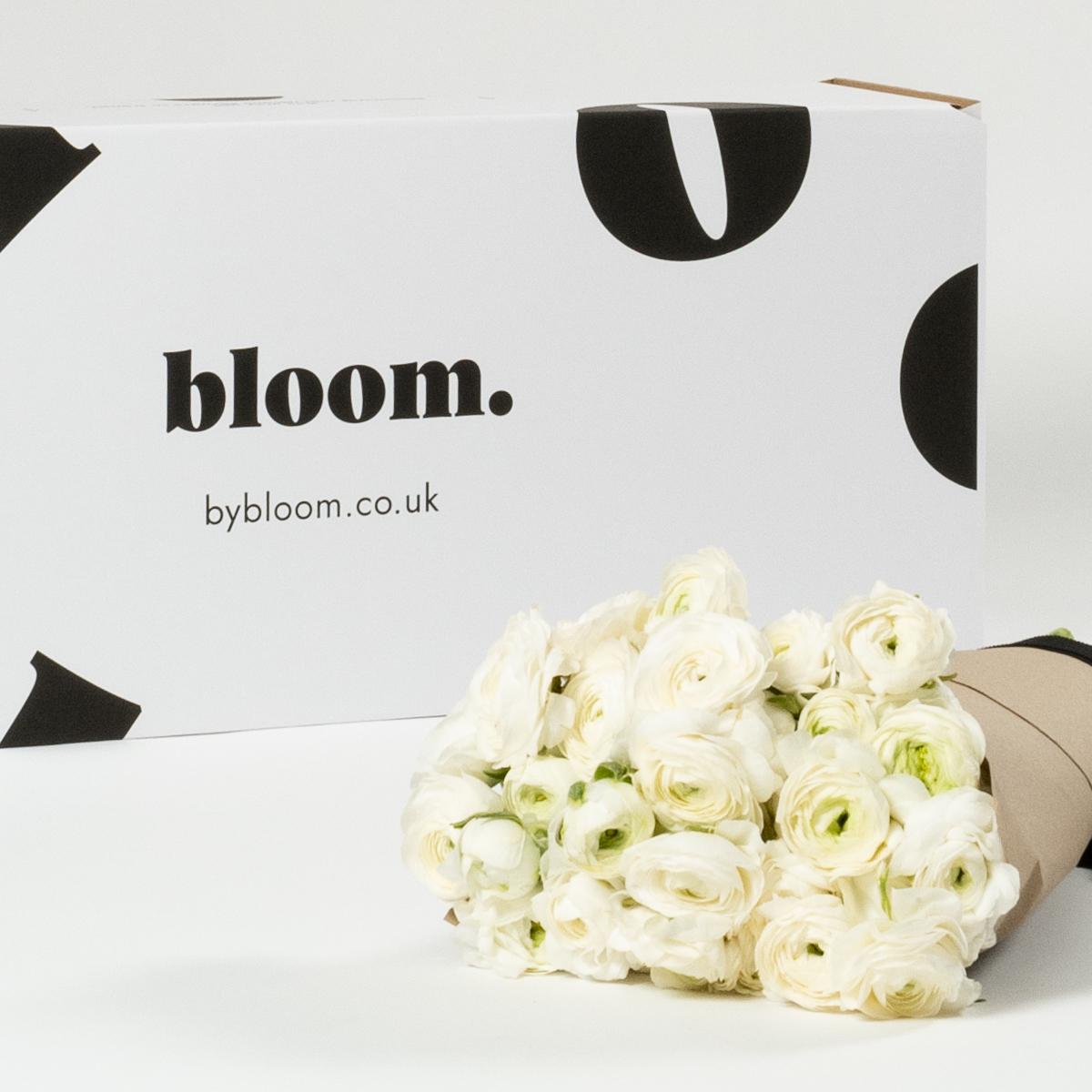 Bloom Flower Delivery | Porcelain White Ranunculus