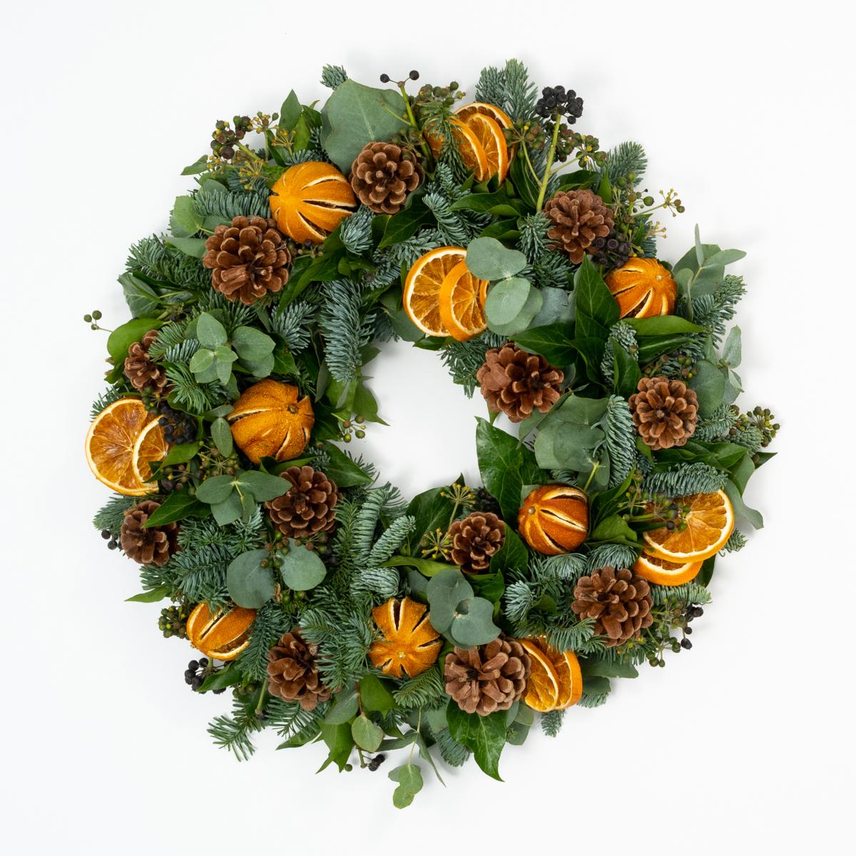 Bloom Flower Delivery | DIY Wreath Kit - Berried Clementine