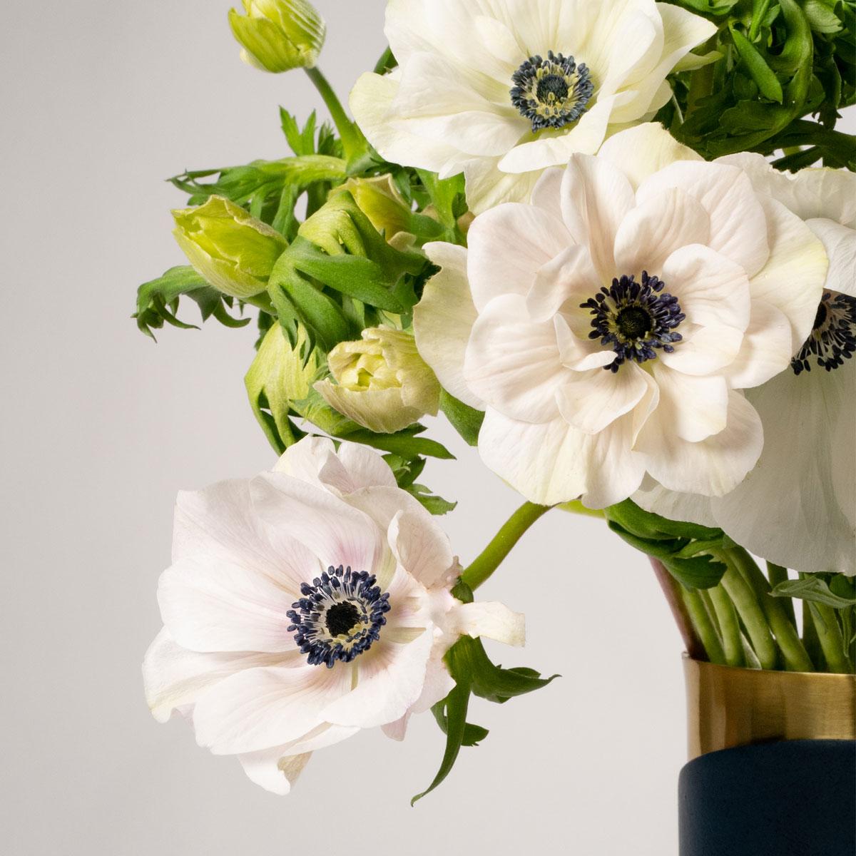 Bloom Flower Delivery | Porcelain White Anemones
