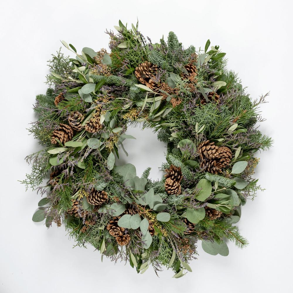 Bloom Flower Delivery | Festive Lavender Wreath