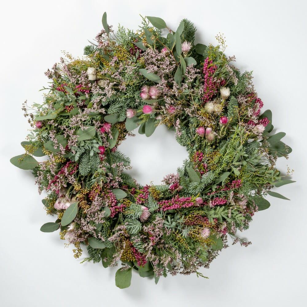Bloom Flower Delivery | Festive Pastels Wreath