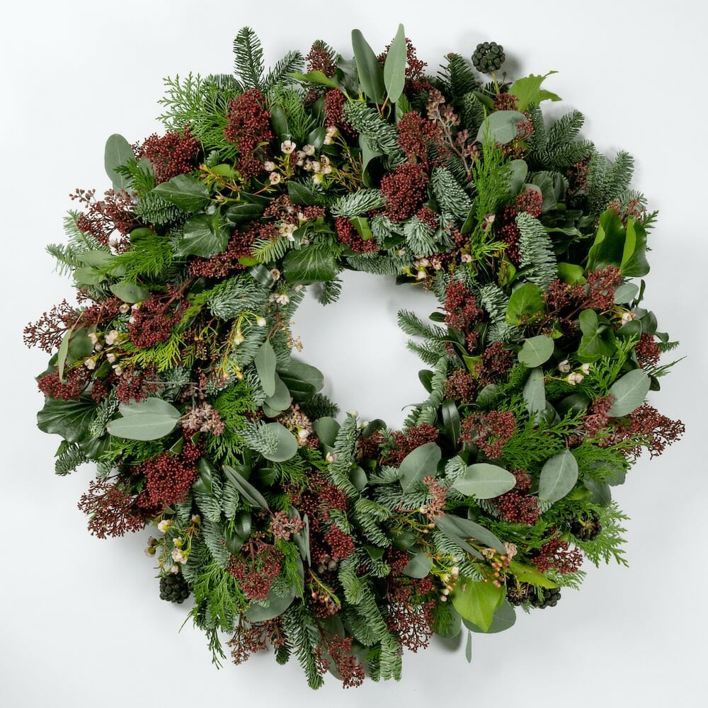 Bloom Flower Delivery | Natural Red Wreath
